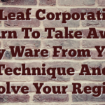 Ian Leaf Corporation – Learn To Take Away Spy Ware From Your Technique And Resolve Your Registry