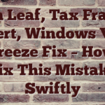 Ian Leaf, Tax Fraud Expert, Windows Vista Pc Freeze Fix – How To Fix This Mistake Swiftly