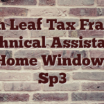 Ian Leaf Tax Fraud Technical Assistance For Home Windows Xp Sp3